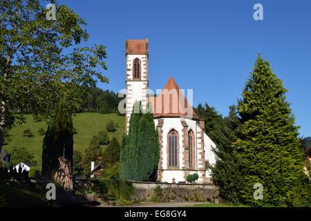 German Church - Dorfkirche St  Mauritius in Hausach, Germany - Stock Photo
