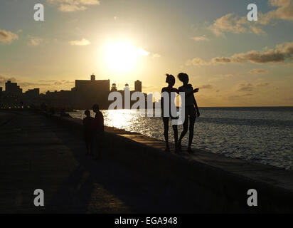 Havanna Vieja, old city, Malecon, Cuba, Havanna - Stock Photo