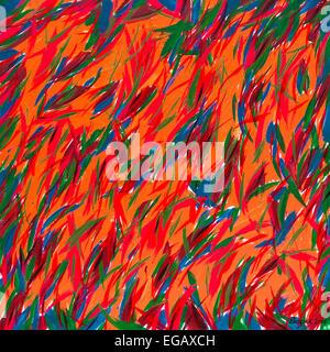 "Modern abstract acrylic painting ""Wild Garden"" by Ed Buziak. - Stock Photo"