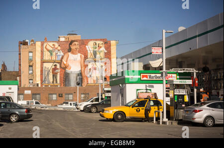 Oil pumps artwork stock photo royalty free image for Cleveland gas station mural