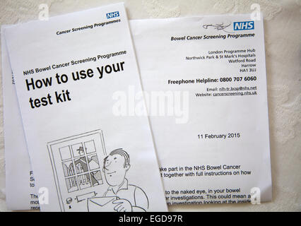 bowel cancer test kit instructions