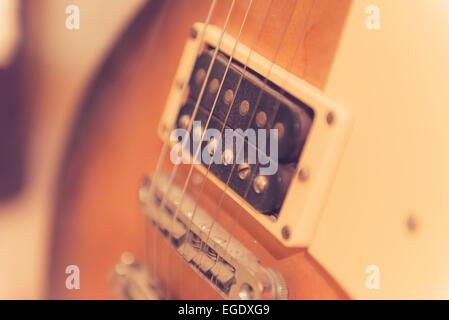 an abstract portrait of a guitar - Stockfoto