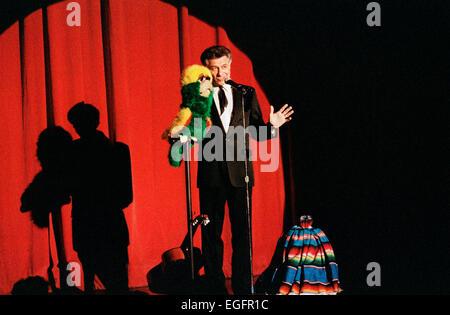 LAS VEGAS, NV - NOVEMBER 10 - Performers on stage in the Aladdin Hotel in Las Vegas, Nevada, on November 10, 1997. - Stock Photo