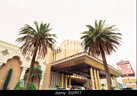 LAS VEGAS, NV - NOVEMBER 10 - The entrance to the Aladdin hotel in Las Vegas, Nevada, on November 10, 1997. - Stock Photo