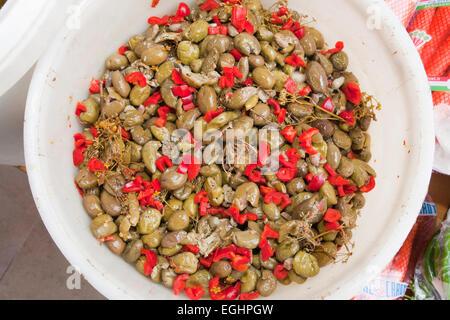 mixed vegetables, market, old town, crotone, calabria, italy, europe - Stockfoto