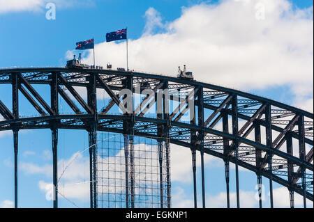Detail of the Sidney Harbour Bridge, Australia - Stock Photo