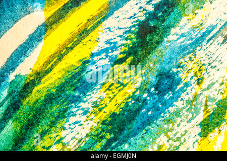 Abstract watercolor painting mixed media grunge background - Stock Photo