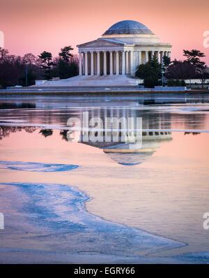 The Thomas Jefferson Memorial in Washington, D.C. is dedicated to Thomas Jefferson, the third President of the United - Stock Photo