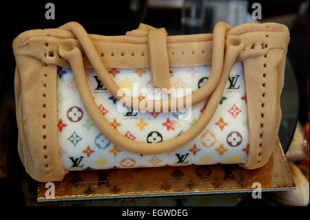 Bag Handbag Louis Vuitton Paris Chocolate Bakery France - Stock Photo
