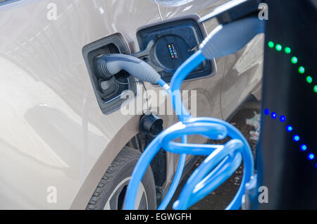 Tesla Charging Stations Bulgaria >> An electric car charging station and parking space Stock Photo, Royalty Free Image: 32860649 - Alamy