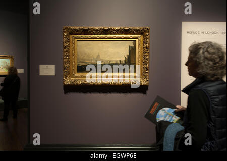 National Gallery, London, UK. 3rd March, 2015. Inventing Impressionism. An exhibition devoted to Paul Durand-Ruel, - Stock Photo