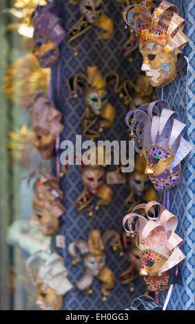 Europe, Italy, Veneto, Venice, Venetian carnival masks - Stock Photo