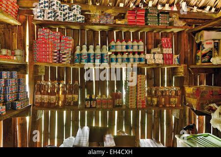 Panama, Darien province, Darien National Park, listed as World Heritage by UNESCO, Embera indigenous community, - Stock Photo
