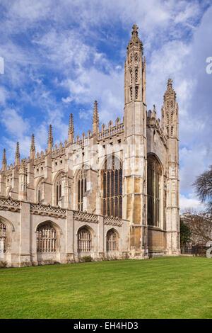 Esat end of King's College Chapel, Cambridge - Stock Photo