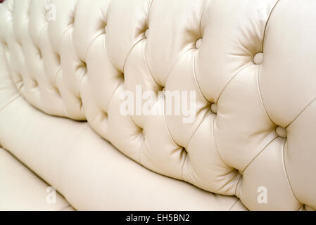 Leather sofa background - Vintage leather high resolution background - Stock Photo