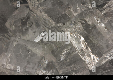 Closeup of ice cubes - Stock Photo