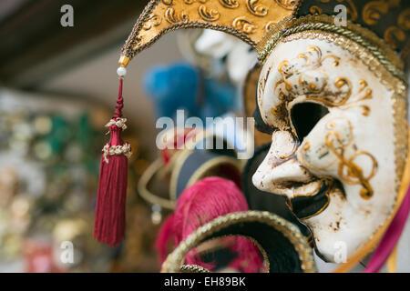 Venetian carnival masks, Venice, Veneto, Italy, Europe - Stock Photo
