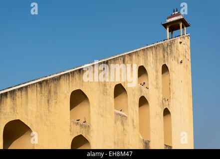 Giant Sundial (Samrat Yantra) at Jantar Mantar Observatory, Jaipur, Rajasthan, India - Stock Photo