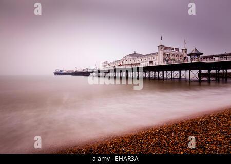 Brighton Pier, Brighton, Sussex, England. - Stock Photo