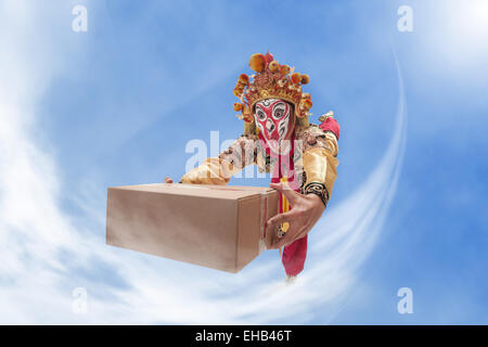 The main characters in the opera sun wukong mail delivery - Stock Photo