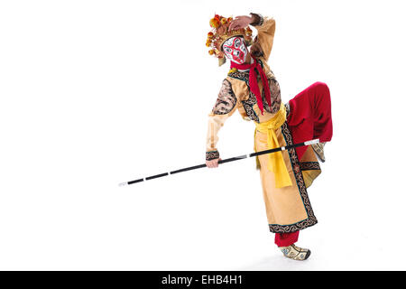 The main characters in the opera Monkey King - Stock Photo