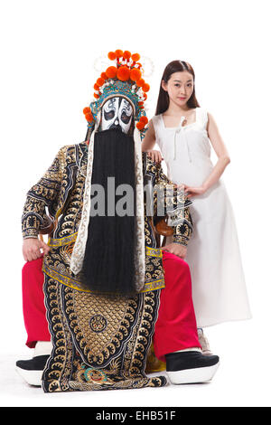Beauty and the male Beijing Opera actress - Stock Photo