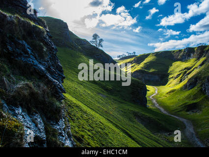 Colour in the peaks - Stock Photo
