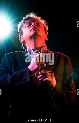 Lead singer Mark E Smith from UK punk band The Fall on the Crawdaddy Stage at the Electric Picnic Boutique Music - Stock Photo