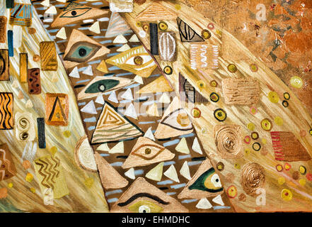Texture, background, Abstract Painting,oil on Canvas - Stock Photo