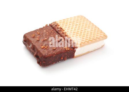 ice cream sandwich on white - Stock Photo