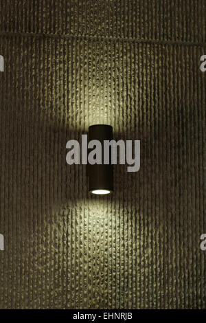 designer lamp on the wall with soft light - Stock Photo