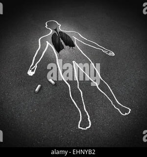 Lung disease medical concept and human anatomy respiratory illness symbol as a chalk drawing of a person with a - Stock Photo