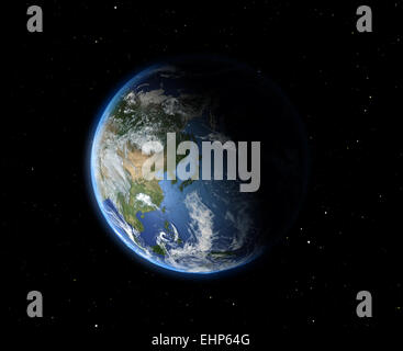 The Earth from space. Asia - Stock Photo
