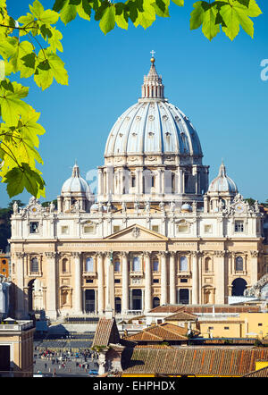St. Peter's cathedral, Rome - Stock Photo