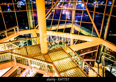 Architecture inside The Gallery, in Baltimore, Maryland. - Stock Photo