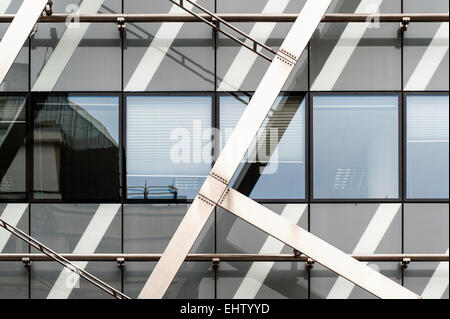 Detail View of an abstract modern building - Stock Photo