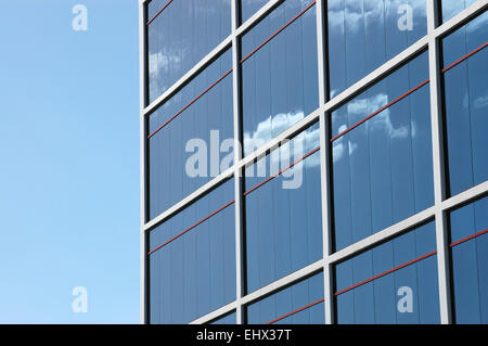 Architecture Image of a Shiny Modern Office Building With Copy Space - Stock Photo