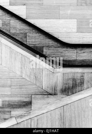 Staircases in the National Museum of the American Indian, in Washington, DC. - Stock Photo