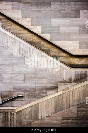 Staircases in the National Museum of the American Indian, in Washington, DC. - Stockfoto