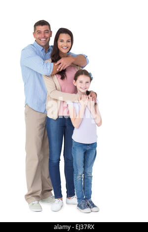 Happy family embracing each other over - Stock Photo