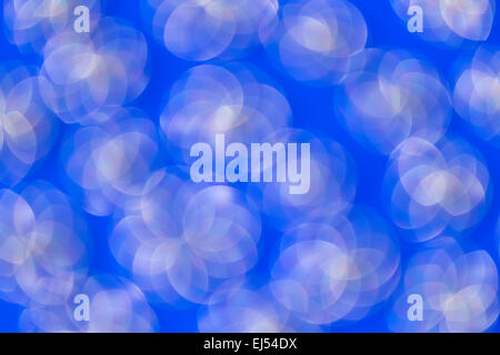 Abstract  blurred circles on blue background.Element of design. - Stock Photo