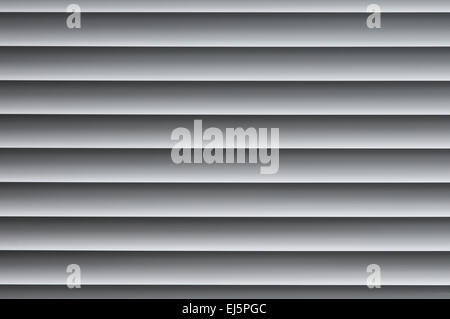Backrgound image of closed metallic venetian blinds on the window - Stockfoto
