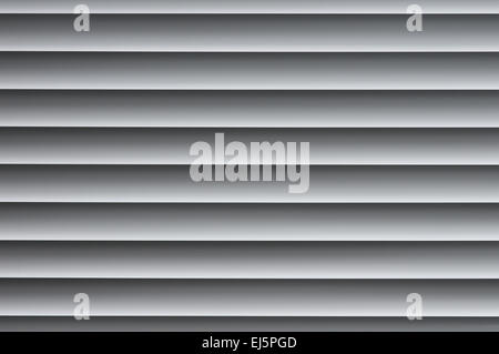 Background image of closed metallic venetian blinds on the window - Stock Photo