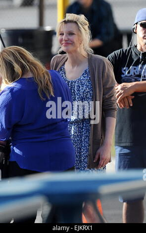 Courtney Love spotted filming one of the last episodes of the hit show 'Sons Of Anarchy' with co star Katey Sagal - Stock Photo