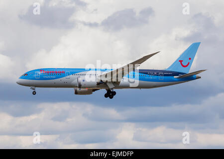 Thomson Boeing 787 Dreamliner Plane - Stock Photo