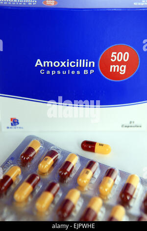 Antibiotic Capsules (Amoxicillin, 500mg Stock Photo ...