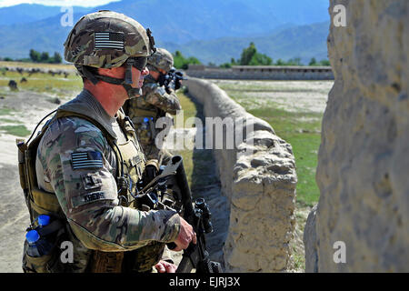 A Soldier From The 1st Battalion 143rd Infantry Regiment