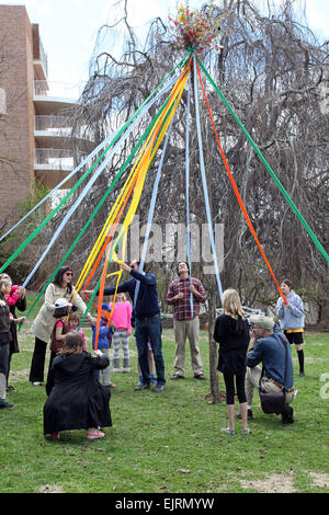 May Day celebration, Hastings-on-Hudson, NY, USA - Stock Photo