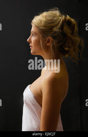 Profile of Young Woman - Stock Photo