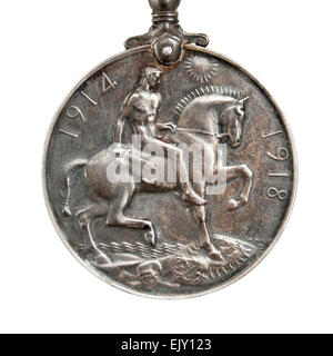 WW1 (1914-1918) British War Medal, awarded to Norman Burgoyne Youel of the Royal Navy. - Stock Photo